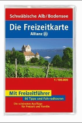 9783875047332: Die Freizeitkarte Allianz, Bl.33, Schwäbische Alb, Bodensee