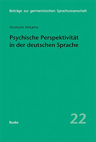 9783875486964: Psychische Perspektivit�t in der deutschen Sprache