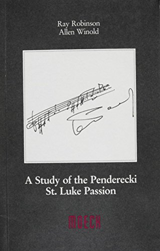 9783875490169: A Study of the Penderecki St.Luke Passion