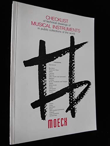 9783875490541: Checklist of technical drawings of musical instruments in public collections of the world