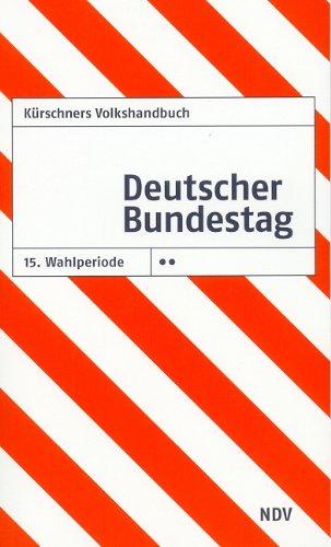 9783875765359: Kürschners Volkshandbuch Deutscher Bundestag