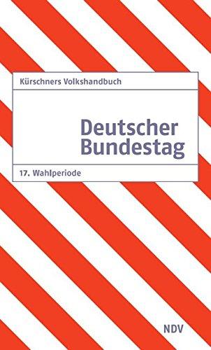 9783875766400: Kürschners Volkshandbuch Deutscher Bundestag 17. Wahlperiode: 2009 - 2013
