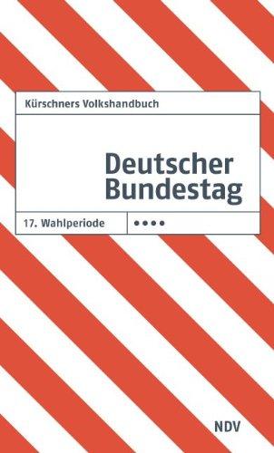 9783875766905: K�rschners Volkshandbuch Deutscher Bundestag 17. Wahlperiode