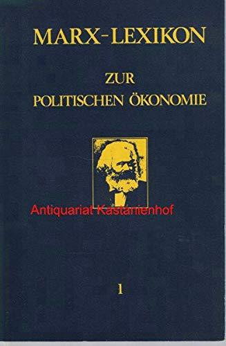 9783876280806: Marx-Lexikon zur politischen Ökonomie (German Edition)