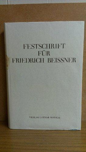 9783876740058: Festschrift für Friedrich Beissner (German Edition)