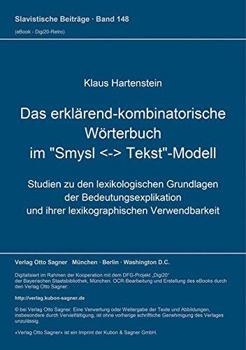 9783876902128: Das erklarend-kombinatorische Worterbuch im