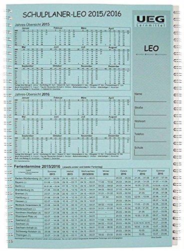 9783877078952: Lehrerkalender-Schulplaner LEO 2015-2016 DIN A4