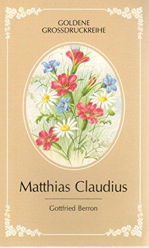 9783877290712: Matthias Claudius