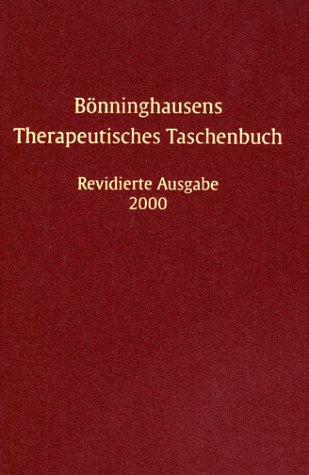 Bönninghausens Therapeutisches Taschenbuch [Gebundene Ausgabe] von Clemens: Clemens M. Fr.
