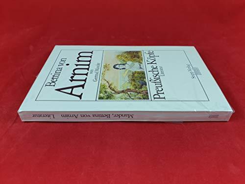 9783877761601: Bettina von Arnim (Preussische Kopfe) (German Edition)