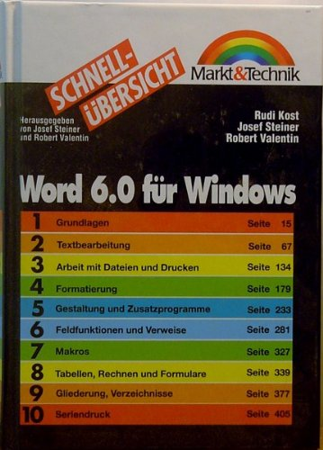 Word 6.0 für Windows. Josef Steiner ,: Kost, Rudi, Josef