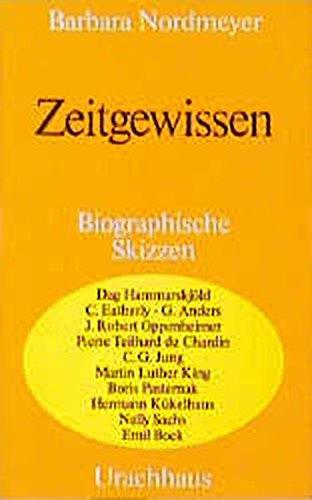 9783878381044: Zeitgewissen: Biographische Skizzen