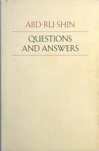 Question And Answers 1924-1937 (FINE COPY OF: Abd-Ru-Shin (Pen Name