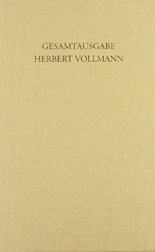 Gesamtausgabe Vollmann Band 1-4 mit Schuber: Herbert Vollmann