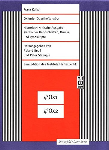 Historisch-kritische Ausgabe sämtlicher Handschriften, Drucke und Typoskripte.: Kafka, Franz.