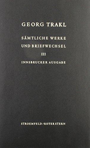 9783878775157: Sämtliche Werke und Briefwechsel. Innsbrucker Ausgabe