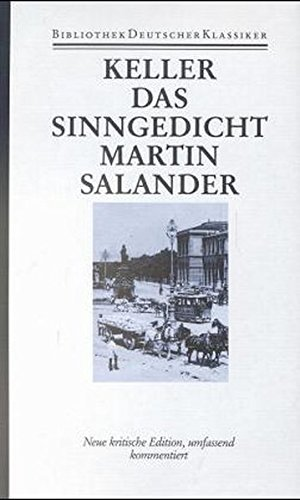 Sämtliche Werke, Historisch-kritische Ausgabe, Bd.6, Züricher NOvellen. Morgenthaler, Walter and ...
