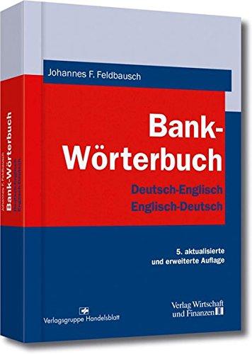 9783878811688: Bank-Wörterbuch. Deutsch - Englisch / Englisch - Deutsch.