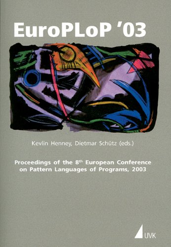9783879407880: Proceedings of the 8th European Conference on Pattern Languages of Programs, 2003