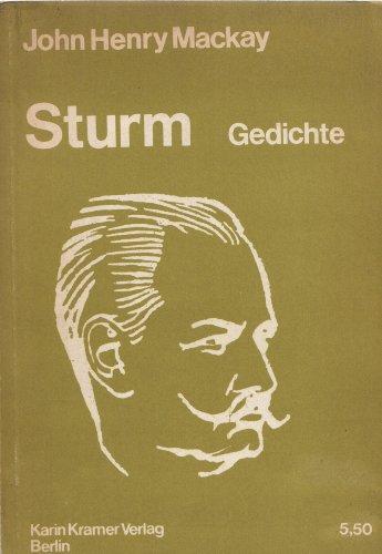 9783879560486: Sturm: Gedichte (German Edition)