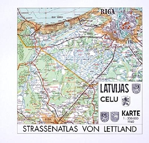 9783879692279: Strassenatlas von Lettland 1940 (German Edition)
