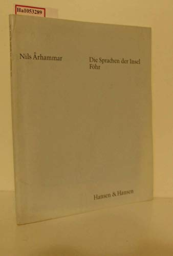 Die Sprachen der Insel Föhr: Föhrer Friesisch: Nils Århammar
