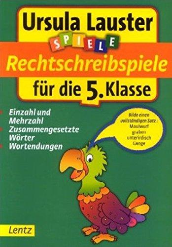 9783880107106: Rechtschreibspiele f�r die 5. Klasse.