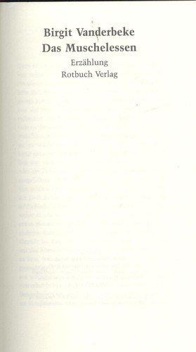 9783880227576: Das Muschelessen: Erzählung
