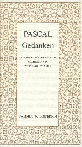9783880599338: Gedanken von Blaise Pascal