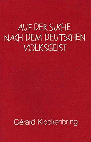9783880692558: Auf der Suche nach dem deutschen Volksgeist
