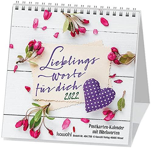 Lieblingsworte für dich 2019: Postkartenkalender mit Bibelworten
