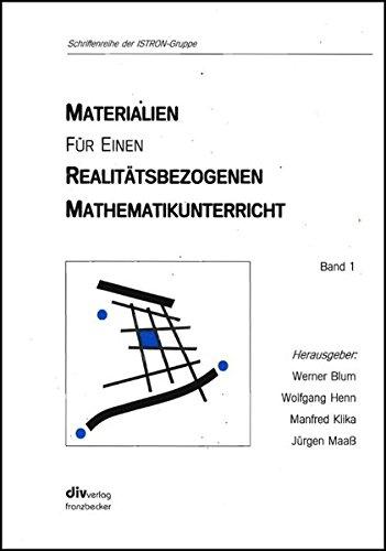 9783881202305: Istron. Materialien für einen realitätsbezogenen Mathematikunterricht 1