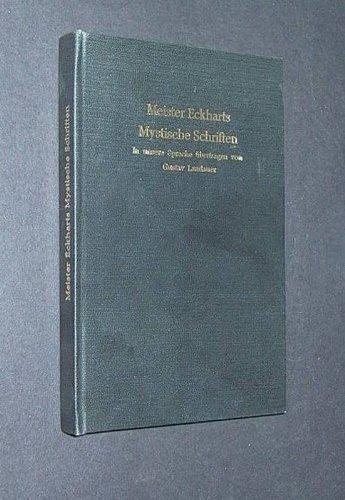 9783881780216: Meister Eckharts Mystische Schriften