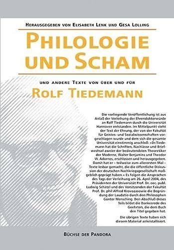 9783881783262: Philologie und Scham