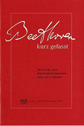 9783881880787: Ronge, J: Beethoven. Leben und Werk kurz gefasst