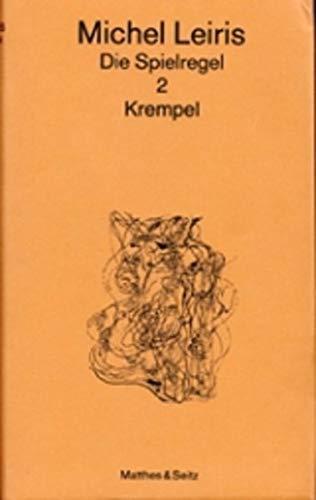 9783882211030: Die Spielregel, 4 Bde., Bd.2, Krempel