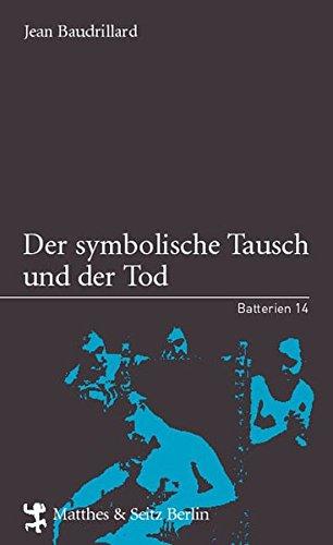 9783882212150: Der symbolische Tausch und der Tod