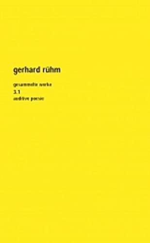 Gesammelte Werke 2/1. Gesamtausgabe: Gerhard Rühm