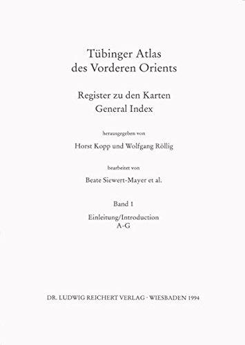 9783882268003: Tubinger Atlas Des Vorderen Orients: Register Zu Den Karten / General Index (Tubinger Atlas Des Vorderen Orients (Tavo))