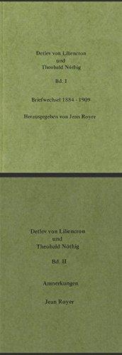 Detlev von Liliencron und Theobald Nöthig: Jean Royer