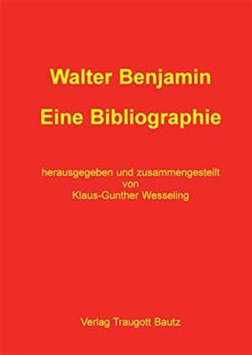 9783883091396: Walter Benjamin: eine Bibliographie
