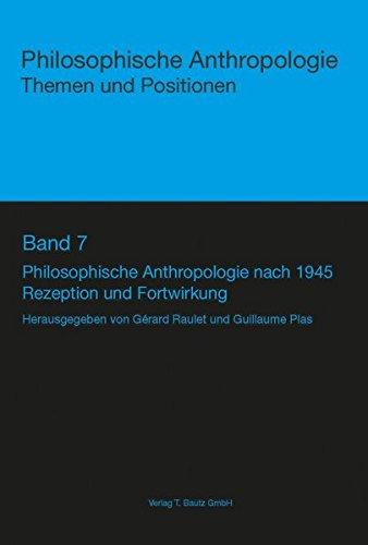 9783883098913: Philosophische Anthropologie nach 1945
