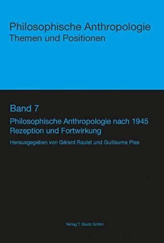 9783883098920: Philosophische Anthropologie nach 1945