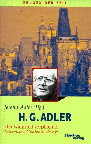 9783883506609: H. G. Adler, Der Wahrheit verpflichtet