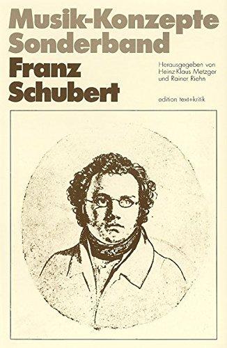9783883770192: Franz Schubert (Musik-Konzepte. Sonderband)