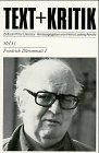 9783883770529: Friedrich Dürrenmatt (Text + Kritik ; Hft 50/51)