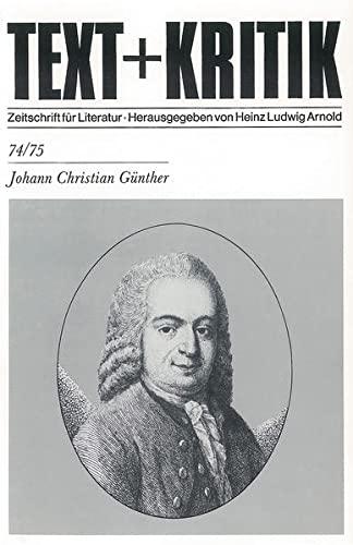 9783883771076: Johann Christian Günther (Text + Kritik)