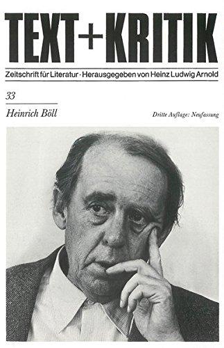 9783883771205: Heinrich Böll (Text + Kritik)