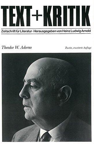 9783883771564: Theodor W. Adorno