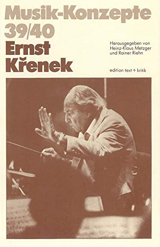 9783883771854: Ernst Krenek (Musik-Konzepte) (English-German Edition) (German and English Edition)
